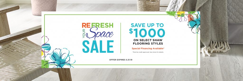 Refresh your Space Sale | H&R Carpets & Flooring