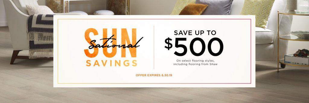 SunSational Savings Sale   H&R Carpets & Flooring