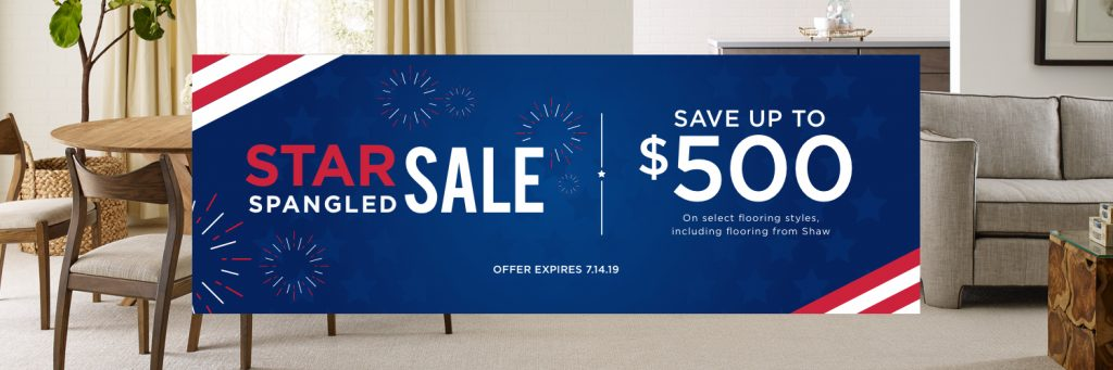 Star Spangled Banner Sale | H&R Carpets & Flooring
