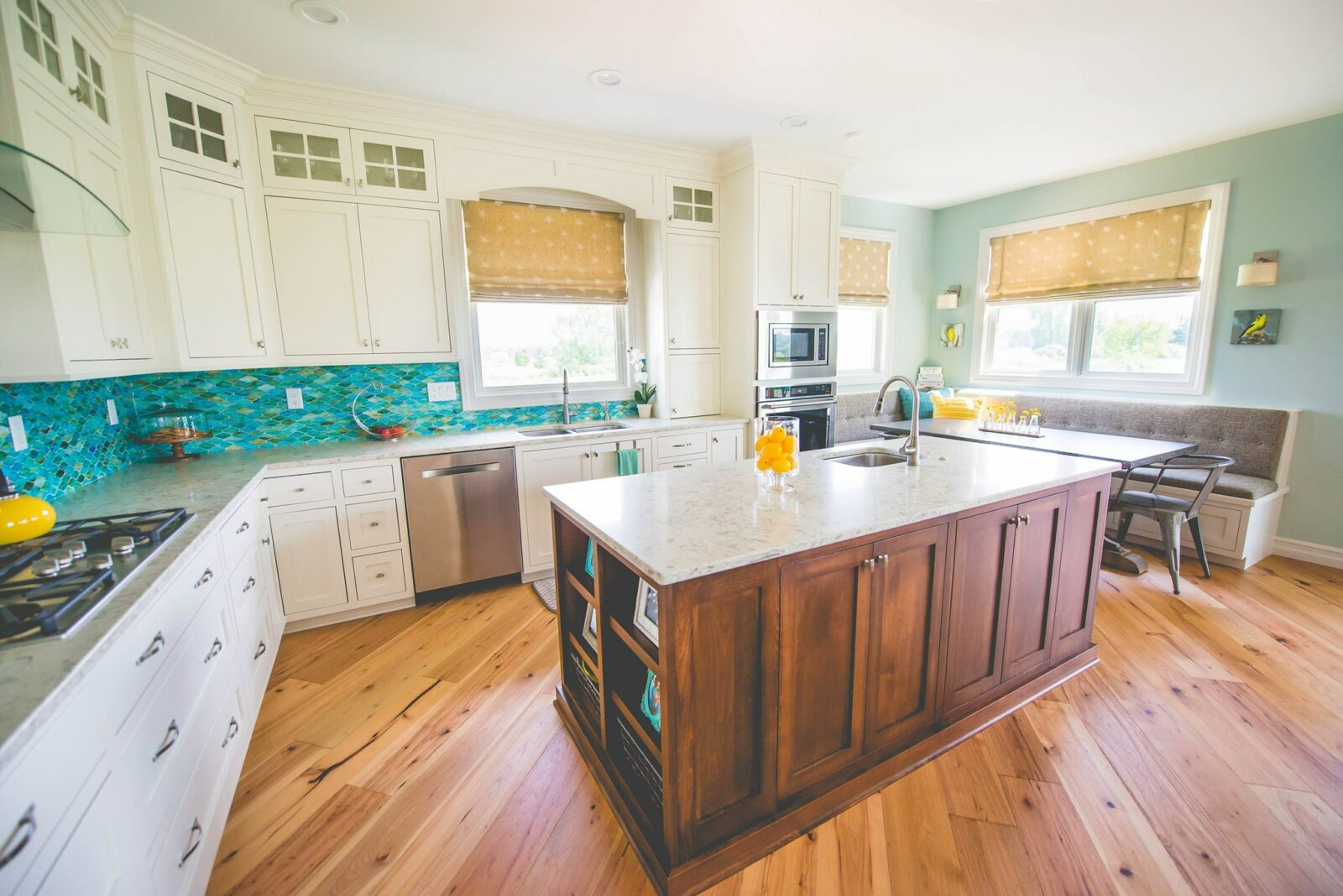 Kitchen cabinets and countertop   H&R Carpets and Flooring