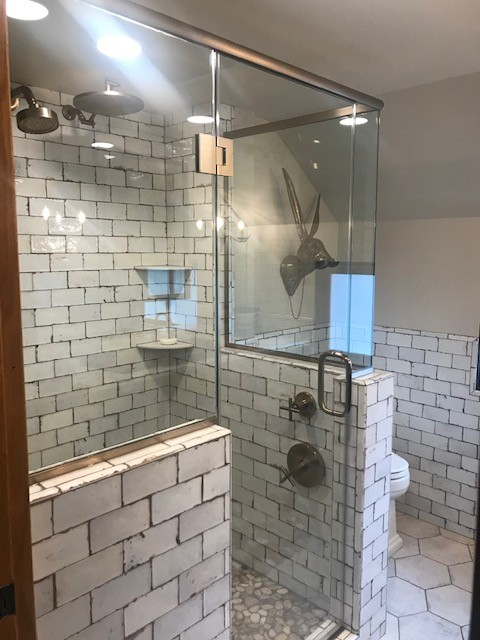 Shower room tiles design   H&R Carpets and Flooring
