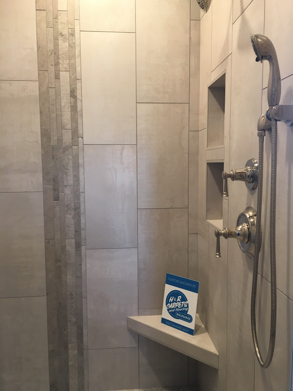 Master Shower room   H&R Carpets and Flooring